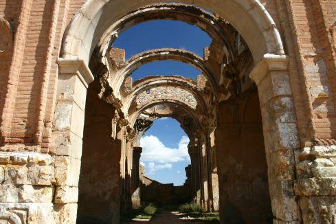 Interior de la Iglesia de San Agustín. Pueblo Viejo de Belchite. Crédito Turismo de Aragón