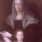Retrato de María Salviati junto a su hijo Cosme. Crédito: Wikipedia Commons