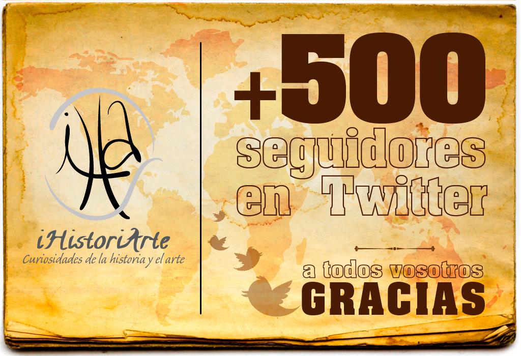+500 seguidores en Tweeter