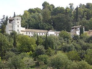 Vista del Generalife desde la Alhambra Crédito: Wikipedia Commons