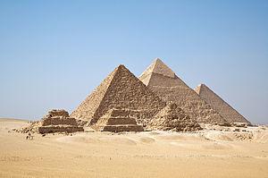 Pirámides de Giza Crédito: Wikipedia Commons