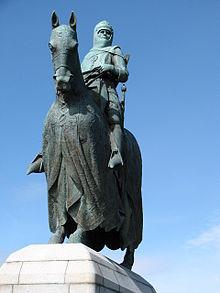 Estatua de Robert Bruce en Bannockburn Crédito: Wikimedia Commons