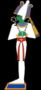 Representación del dios egipcio Horus Crédito: Wikimedia Commons