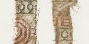 Textiles encontrados en el barco de Oseberg