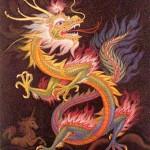 Dragón chino multicolor Crédito: Seresmitologicos.net