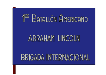 Bandera del Batallón Abraham Lincoln.