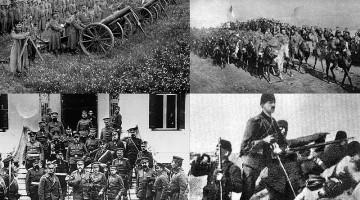 Collage con fotografías de la I Guerra de los Balcanes