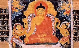 El Buda rodeado por los demonios de Mara.