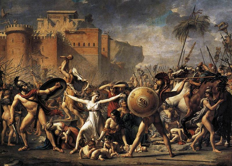 El rapto de las sabinas (1799) de Jacques-Louis David